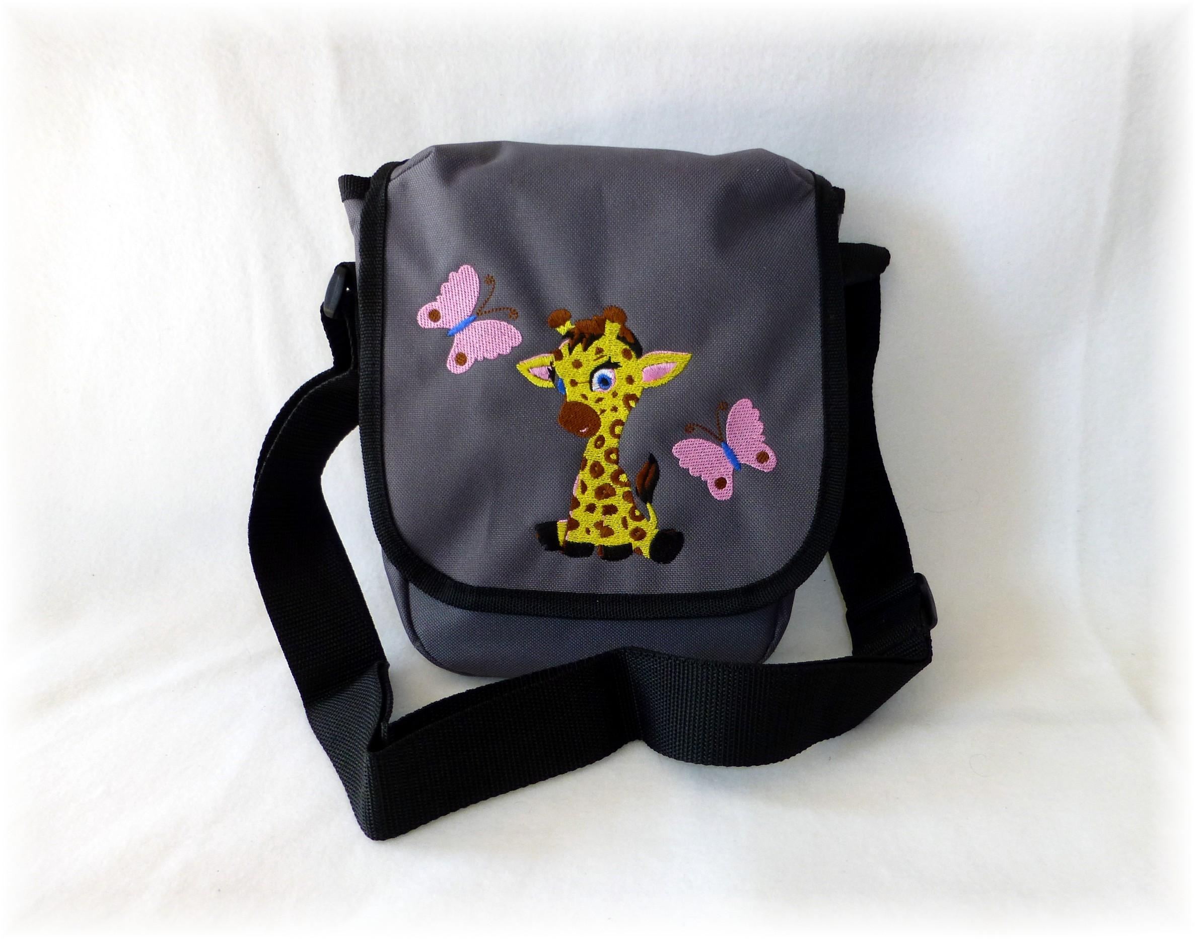fuxis krabbelschuhe fuxis kindergartentasche giraffe bestickt. Black Bedroom Furniture Sets. Home Design Ideas